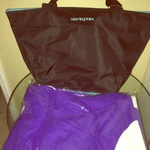 NWT Bloomingdales tote and towel